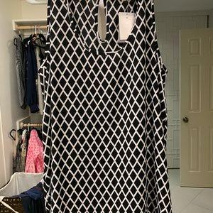 Black with diamond pattern pleione tank blouse